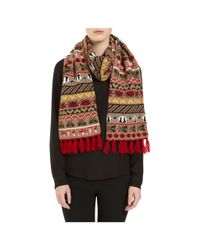 Mulberry - Multicolor Motif Scarf - Lyst
