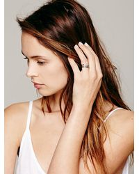 Free People - Metallic Stacking Ring Set - Lyst