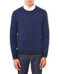 Acne Studios | Black Clissold Animal Print Crew Neck Sweater | Lyst