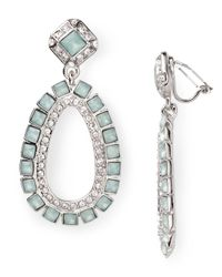 Carolee | Green Color Pop Gypsy Clip On Drop Earrings | Lyst