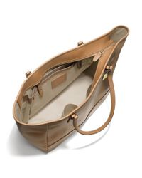 COACH - Brown Large City Tote in Saffiano Leather - Lyst