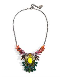 DANNIJO | Blue Mallory Embellished Necklace | Lyst