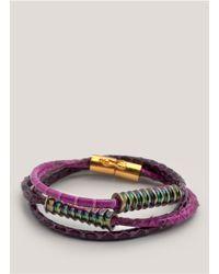 Eddie Borgo - Purple Scaled Wrap Bracelet - Lyst