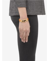Ela Stone | Metallic Rowina Coloured Thread Stud Bracelet | Lyst