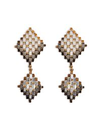 Erickson Beamon | Metallic Goldplated Xenon Earrings | Lyst