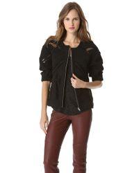 IRO - Coffey Knitted Jacket, Women's, Size: 12, Black - Lyst