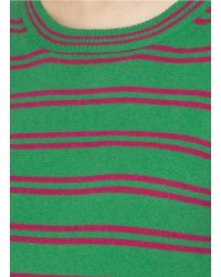J.Crew - Green Striped Cashmere Tippi Sweater - Lyst