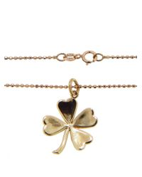 Jennifer Meyer - Metallic Rose Gold & Diamond Good Luck Charm Pendant Necklace - Lyst