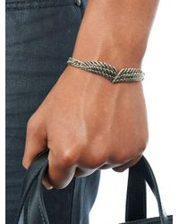 Saint Laurent - Metallic Wing Bracelet - Lyst