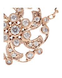 Stone - Pink 18kt Rose Gold Once Upon A Time Necklace With White Diamonds - Lyst