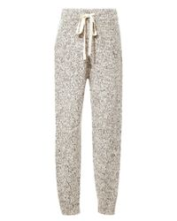 Thakoon Addition - White Marled Knit Sweatpants - Lyst
