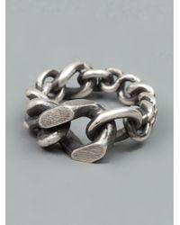 Werkstatt:münchen - Metallic Mixed Chain Ring for Men - Lyst