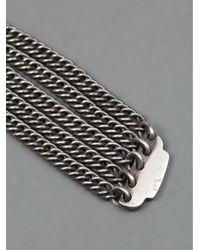 Werkstatt:münchen   Metallic Werkstatt:münchen Chain Link Key Ring   Lyst