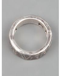 Werkstatt:münchen - Metallic Chunky Ring for Men - Lyst