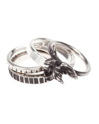 Werkstatt:münchen | Metallic Eagle Combination Rings for Men | Lyst
