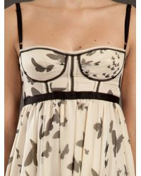 Dolce & Gabbana - Natural Printed Silk Dress - Lyst