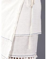 Dosa | White Tassel Pareo Sarong | Lyst