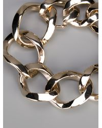 Givenchy - Metallic Chunky Curb Chain Bracelet - Lyst