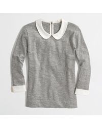 J.Crew | Gray Factory Peter Pan Collar Tee | Lyst