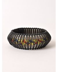 J.W.Anderson - Black Yellow Climbing Rope And Leather Horn Bracelet By - Lyst