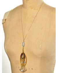 Kirsty Ward - Metallic Alu Loops Crystals Gold Chain Pendant By - Lyst