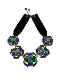 Moutoncollet - Green Illusion Necklace in Emerald - Lyst