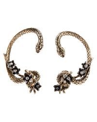 Roberto Cavalli - Multicolor Snake Earrings - Lyst