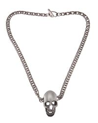 Saint Laurent | Metallic Skull Necklace for Men | Lyst