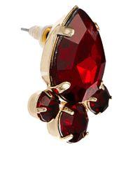 ASOS - Red Tear Opaque Earrings - Lyst