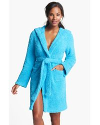 Barefoot Dreams | Blue Cozy-chic Short Hooded Robe | Lyst