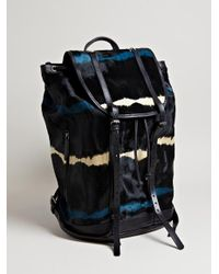 Dries Van Noten - Gray Mens Cow Hide Ruck Sack for Men - Lyst