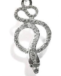 Ileana Makri   Gray Grey Diamond & Gold Snake-Tree Earrings   Lyst