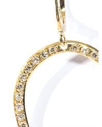 Ileana Makri - White Diamond and Yellow Gold Hoop Earrings - Lyst