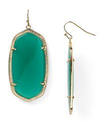 Kendra Scott - Green Danielle Oval Stone Earrings - Lyst
