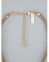 Oscar de la Renta - Metallic Knotted Necklace - Lyst