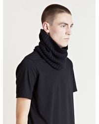 Rick Owens - Black Mens Neck Warmer for Men - Lyst