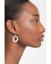 Simon Sebbag | Metallic Contemporary Small Open Circle Drop Earrings | Lyst