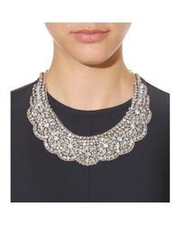 Valentino | Metallic Crystalembellished Necklace | Lyst