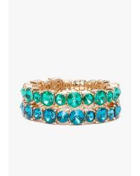 Bebe - Green Bling Bracelet Set - Lyst