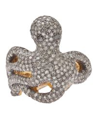 Native Jewels | Metallic Diamond Octopus Ring | Lyst