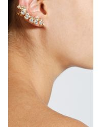 Sophie Bille Brahe | Metallic Small Diamond Croissant Earring | Lyst
