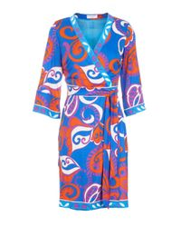 Almost Famous - Blue Paisley Wrap Tunic Dress - Lyst