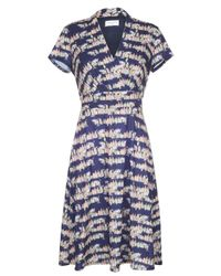 Almost Famous - Blue House Print Jersey Dress - Lyst
