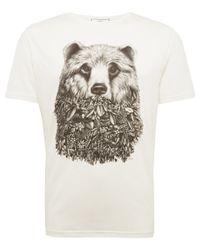 AMI | Natural White Bear Print Tshirt for Men | Lyst