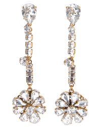Erickson Beamon | Metallic Hello Sweetie Flower Earring | Lyst