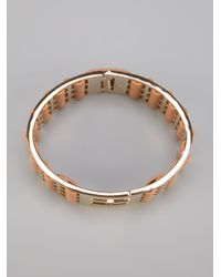Fendi - Metallic Contrast Panel Bangle - Lyst