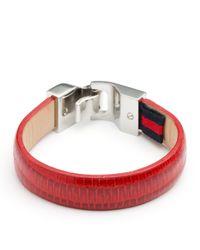 Tommy Hilfiger | Metallic Leather Bracelet for Men | Lyst