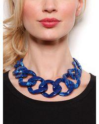 BaubleBar - Blue Sapphire Chunky Chain Collar - Lyst