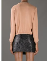 Carven - Brown Molleton Embroidered Sweater - Lyst