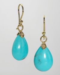 Elizabeth Showers | Eliza Small Blue Turquoise Teardrop Earrings | Lyst